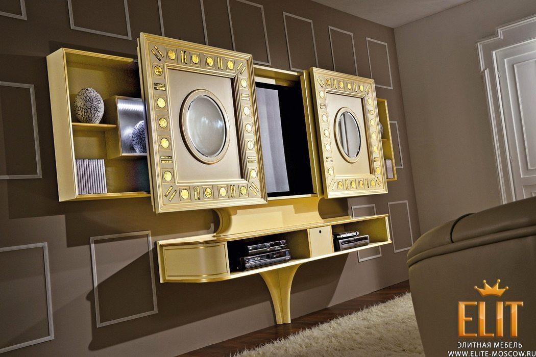 Стенки ТВ и стеллажи Gold & Silver Eyes фабрики Vismara